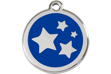 Red Dingo Enamel Tag Stars Dark Blue 01-ST-DB (1STNS / 1STNM / 1STNL)