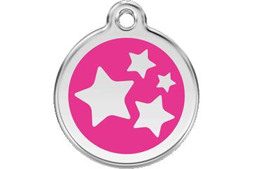 Red Dingo Médaillon en émail Stars Rose Bonbon 01-ST-HP (1STHPS / 1STHPM / 1STHPL)