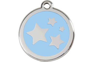 Red Dingo Enamel Tag Stars Light Blue 01-ST-LB (1STLBS / 1STLBM / 1STLBL)