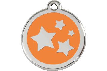 Red Dingo Médaillon en émail Stars Orange 01-ST-OR (1STOS / 1STOM / 1STOL)