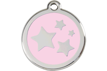 Red Dingo Enamel Tag Stars Pink 01-ST-PK (1STPKS / 1STPKM / 1STPKL)