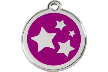 Red Dingo Enamel Tag Stars Purple 01-ST-PU (1STPS / 1STPM / 1STPL)