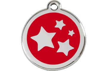 Red Dingo Médaillon en émail Stars Rouge 01-ST-RE (1STRS / 1STRM / 1STRL)