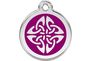 Red Dingo Enamel Tag Tribal Arrows Purple 01-TA-PU (1TAPS / 1TAPM / 1TAPL)