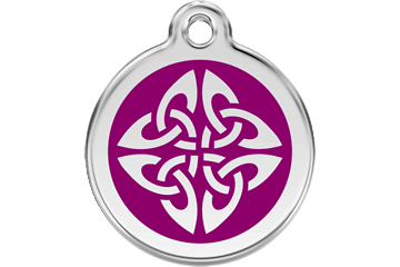 Red Dingo Enamel Tag Tribal Arrows Purple 01-TA-PU (1TAPS / 1TAPM / 1TAPL)