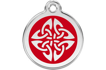 Red Dingo Enamel Tag Tribal Arrows Red 01-TA-RE (1TARS / 1TARM / 1TARL)