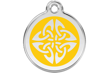 Red Dingo Enamel Tag Tribal Arrows Yellow 01-TA-YE (1TAYS / 1TAYM / 1TAYL)