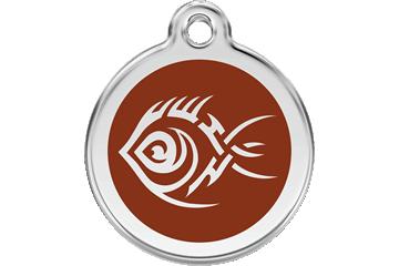 Red Dingo Médaillon en émail Tribal Fish Marron 01-TF-BR (1TFBRS / 1TFBRM / 1TFBRL)