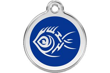Red Dingo Médaillon en émail Tribal Fish Bleu Foncé 01-TF-DB (1TFNS / 1TFNM / 1TFNL)