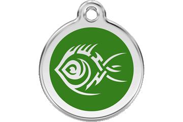 Red Dingo Médaillon en émail Tribal Fish Vert 01-TF-GR (1TFGS / 1TFGM / 1TFGL)