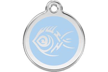 Red Dingo Médaillon en émail Tribal Fish Bleu Clair 01-TF-LB (1TFLBS / 1TFLBM / 1TFLBL)