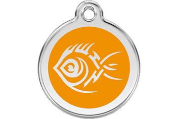 Red Dingo Médaillon en émail Tribal Fish Orange 01-TF-OR (1TFOS / 1TFOM / 1TFOL)