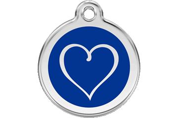 Red Dingo Médaillon en émail Tribal Heart Bleu Foncé 01-TH-DB (1THNS / 1THNM / 1THNL)