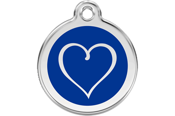 Red Dingo Enamel Tag Tribal Heart Dark Blue 01-TH-DB (1THNS / 1THNM / 1THNL)