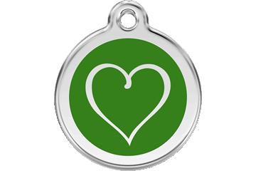Red Dingo Médaillon en émail Tribal Heart Vert 01-TH-GR (1THGS / 1THGM / 1THGL)