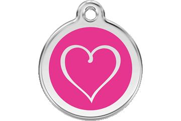 Red Dingo Médaillon en émail Tribal Heart Rose Bonbon 01-TH-HP (1THHPS / 1THHPM / 1THHPL)