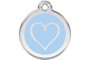 Red Dingo Enamel Tag Tribal Heart Light Blue 01-TH-LB (1THLBS / 1THLBM / 1THLBL)