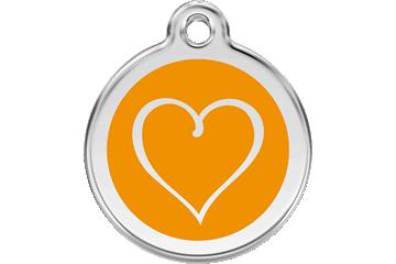 Red Dingo Médaillon en émail Tribal Heart Orange 01-TH-OR (1THOS / 1THOM / 1THOL)
