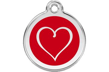 Red Dingo Médaillon en émail Tribal Heart Rouge 01-TH-RE (1THRS / 1THRM / 1THRL)