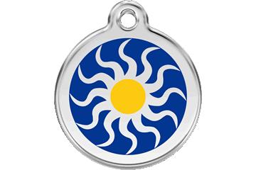 Red Dingo Tiermarke mit Emaille Tribal Sun 01-TS-DB (1TSNS / 1TSNM / 1TSNL)