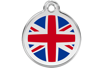 Red Dingo Tiermarke mit Emaille UK Flag &nbsp: 01-UK-DB (1UKNS / 1UKNM / 1UKNL)