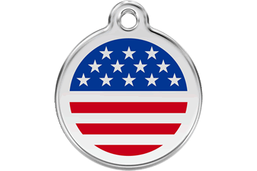 Red Dingo Enamel Tag Stars & Stripes 01-US-DB (1USNS / 1USNM / 1USNL)
