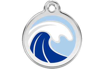 Red Dingo Enamel Tag Wave 01-WA-LB (1WALBS / 1WALBM / 1WALBL)
