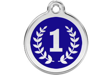 Red Dingo Enamel Tag Winner Dark Blue 01-WI-DB (1WINS / 1WINM / 1WINL)