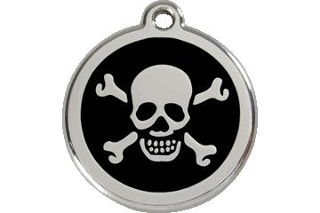 Red Dingo Médaillon en émail Skull & Cross Bones Noire 01-XB-BB (1XBBS / 1XBBM / 1XBBL)