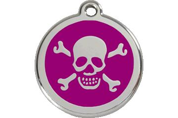 Red Dingo Médaillon en émail Skull & Cross Bones Violet 01-XB-PU (1XBPS / 1XBPM / 1XBPL)