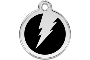 Red Dingo Enamel Tag Flash Black 01-ZF-BB (1ZFBL / 1ZFBM / 1ZFBS)