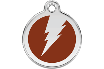 Red Dingo Enamel Tag Flash Brown 01-ZF-BR (1ZFBRS / 1ZFBRM / 1ZFBRL)