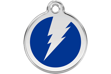 Red Dingo Tiermarke mit Emaille Flash Dunkelblau 01-ZF-DB (1ZFNS / 1ZFNM / 1ZFNL)