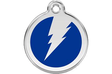 Red Dingo Enamel Tag Flash Dark Blue 01-ZF-DB (1ZFNS / 1ZFNM / 1ZFNL)