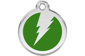 Red Dingo Tiermarke mit Emaille Flash Grün 01-ZF-GR (1ZFGS / 1ZFGM / 1ZFGL)