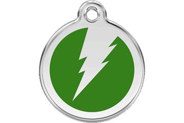 Red Dingo Médaillon en émail Flash Vert 01-ZF-GR (1ZFGS / 1ZFGM / 1ZFGL)