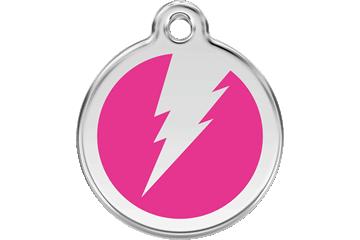 Red Dingo Enamel Tag Flash Hot Pink 01-ZF-HP (1ZFHPS / 1ZFHPM / 1ZFHPL)