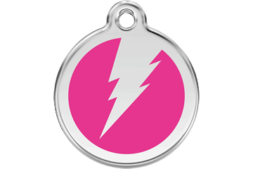 Red Dingo Enamel Tag Flash Hot Pink 01-ZF-HP (1ZFHPS / 1ZFHPM / 1ZFHPL)