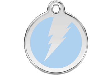 Red Dingo Enamel Tag Flash Light Blue 01-ZF-LB (1ZFLBS / 1ZFLBM / 1ZFLBL)