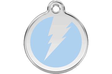Red Dingo Enamel Tag Flash Light Blue 01-ZF-LB (1ZFLBS / 1ZFLBM / 1ZFLBL)