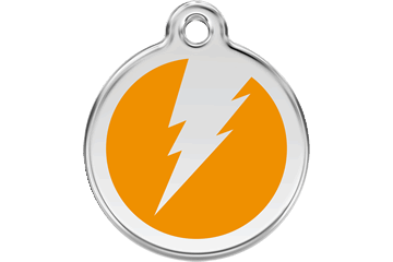 Red Dingo Enamel Tag Flash Arancione 01-ZF-OR (1ZFOS / 1ZFOM / 1ZFOL)