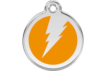 Red Dingo Tiermarke mit Emaille Flash Orange 01-ZF-OR (1ZFOS / 1ZFOM / 1ZFOL)