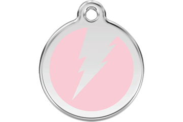Red Dingo Enamel Tag Flash Rosa 01-ZF-PK (1ZFPKS / 1ZFPKM / 1ZFPKL)