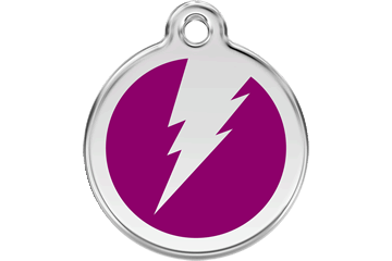 Red Dingo Tiermarke mit Emaille Flash Violett 01-ZF-PU (1ZFPS / 1ZFPM / 1ZFPL)