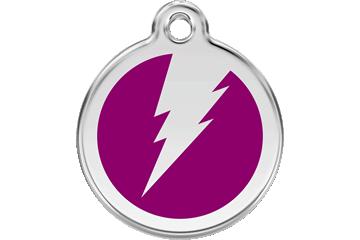 Red Dingo Enamel Tag Flash Purple 01-ZF-PU (1ZFPS / 1ZFPM / 1ZFPL)