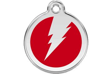 Red Dingo Enamel Tag Flash Red 01-ZF-RE (1ZFRS / 1ZFRM / 1ZFRL)
