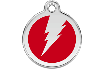 Red Dingo Enamel Tag Flash Red 01-ZF-RE (1ZFRS / 1ZFRM / 1ZFRL)
