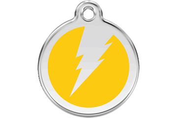 Red Dingo Enamel Tag Flash Yellow 01-ZF-YE (1ZFYS / 1ZFYM / 1ZFYL)