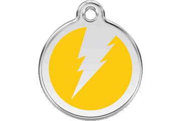 Red Dingo Enamel Tag Flash Yellow 01-ZF-YE (1ZFYS / 1ZFYM / 1ZFYL)