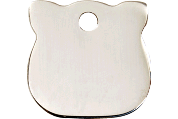 Red Dingo Stainless Steel Tag Cat Head 02-CH-ZZ (2CHS)